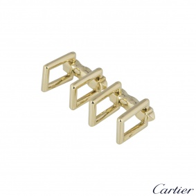 Cartier Yellow Gold Rectangular Folding Cufflinks